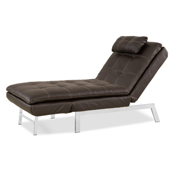 Serta Futons Vienna Convertible Chaise Lounge & Reviews