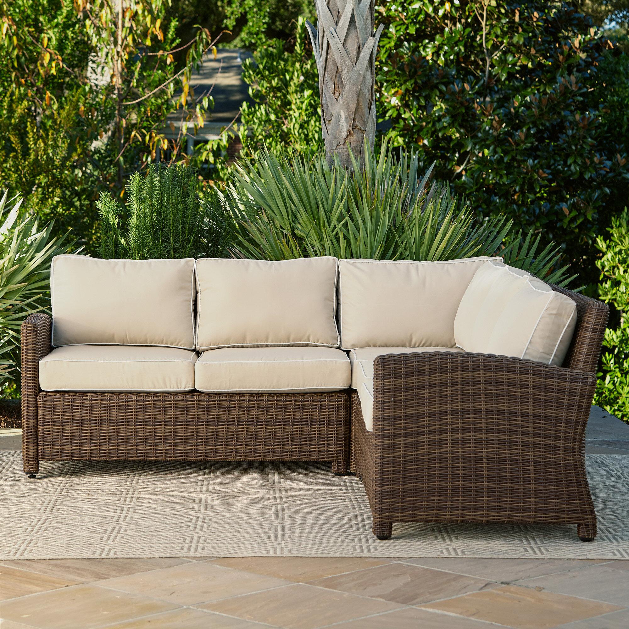 Beachcrest Home Kiana Patio Sectional With Cushions U0026 Reviews | Wayfair
