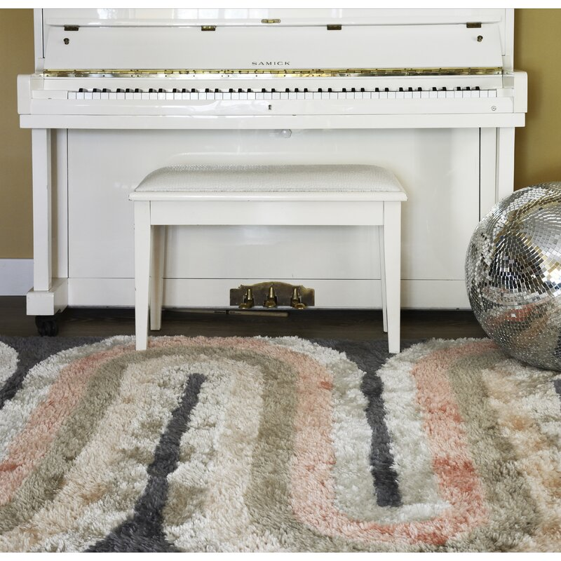 Retro Wave Hand Tufted Pastel Area Rug Amp Reviews Allmodern