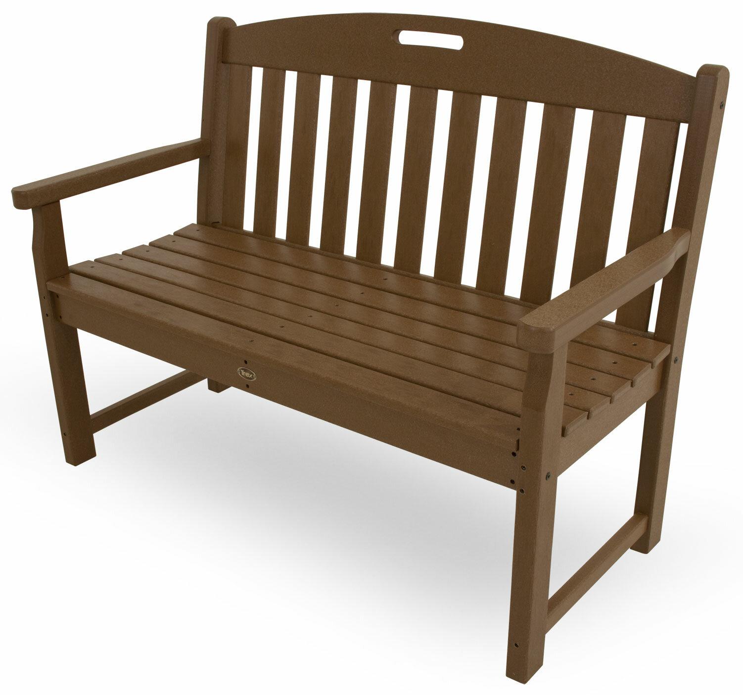 Trex yacht club plastic garden bench reviews wayfair
