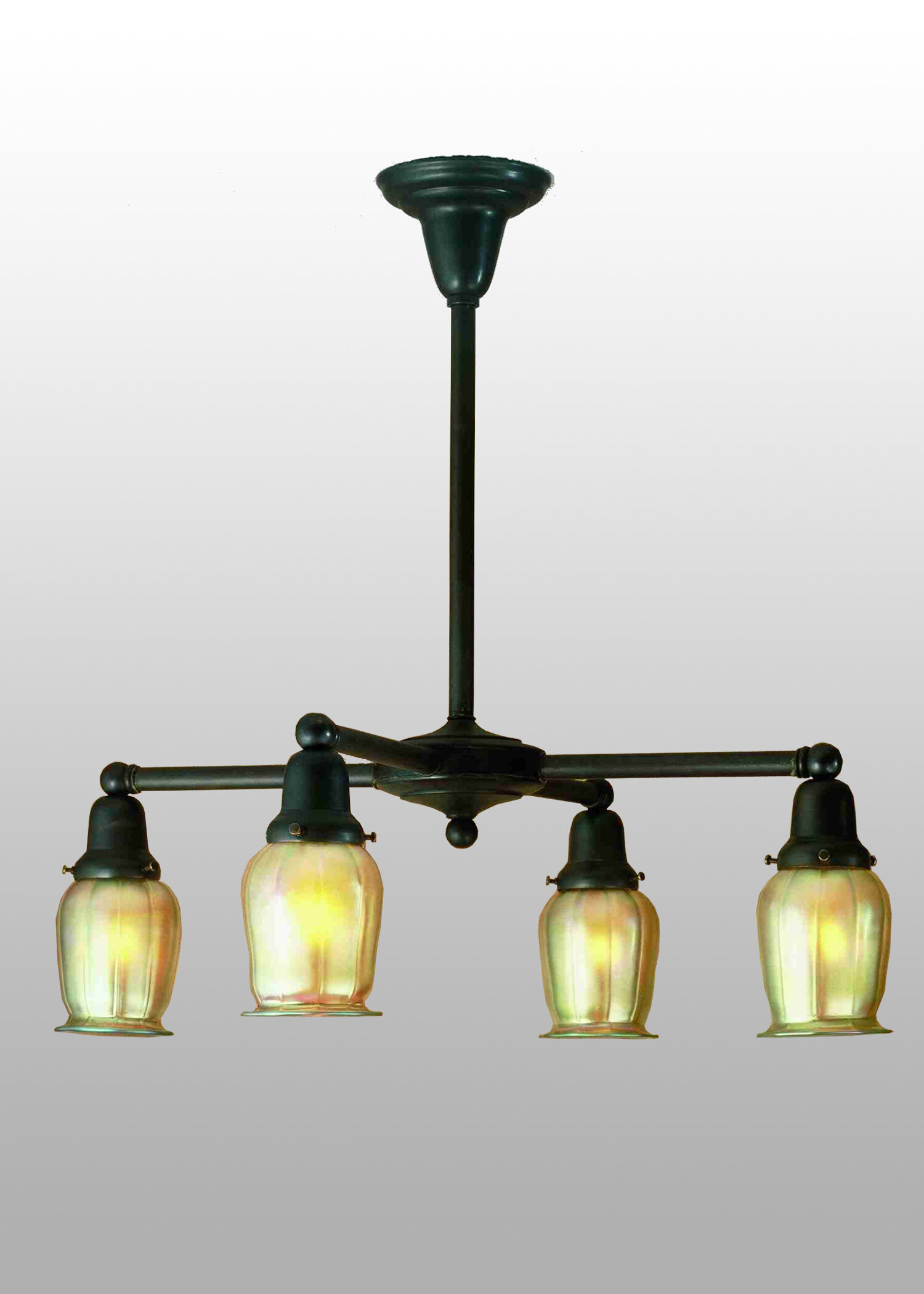 meyda tiffany revival oyster bay favrile 4 light shaded chandelier