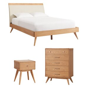 scandinavian bedroom furniture. leominster platform customizable wood bedroom set scandinavian furniture v