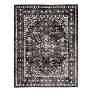 Compare prices Flanagan Black Area Rug ByAlcott Hill