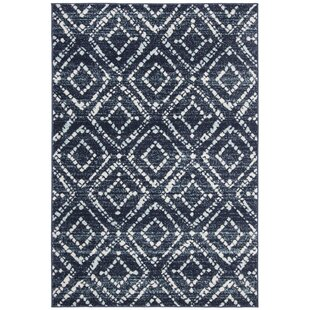 Navy Blue Geometric Rug Rugs Ideas