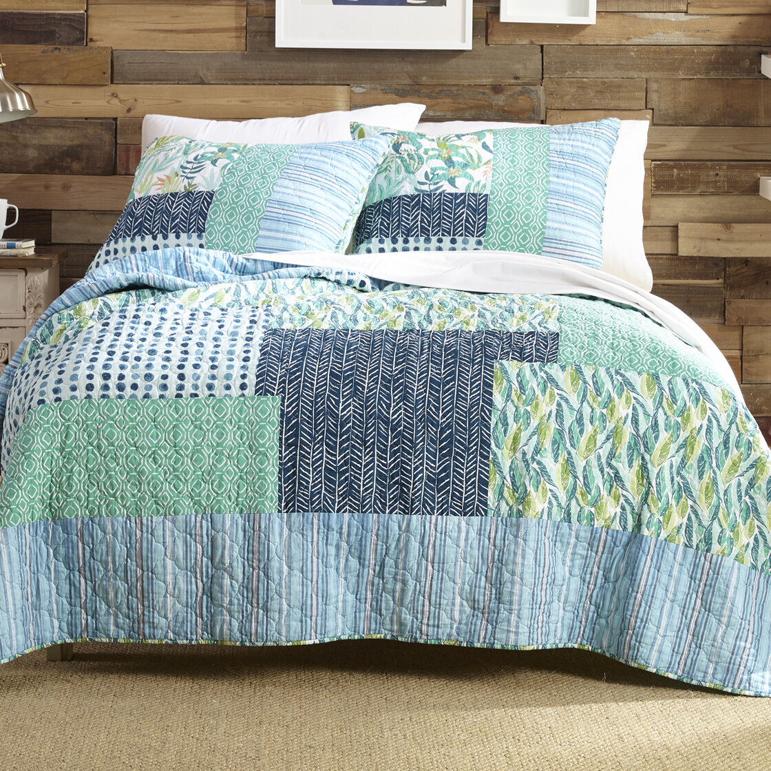 Makers Collective Native Springs 100% Cotton Reversible Quilt Set ...