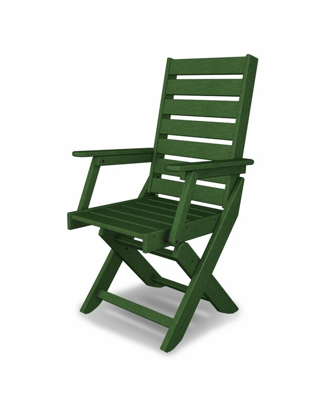 Captain Folding Patio Dining Chair