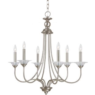Lodge style lighting wayfair locklin 6 light candle style chandelier aloadofball Image collections