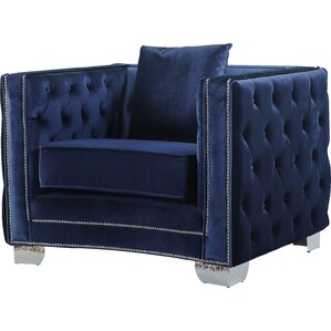 Creekside Velvet Club Chair by Everly Quinn