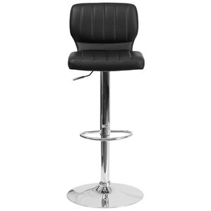 Aristocles Adjustable Height Swivel Bar Stool by Wade Logan