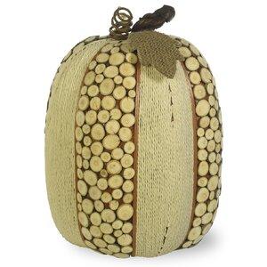 Natural Twine Tall Pumpkin