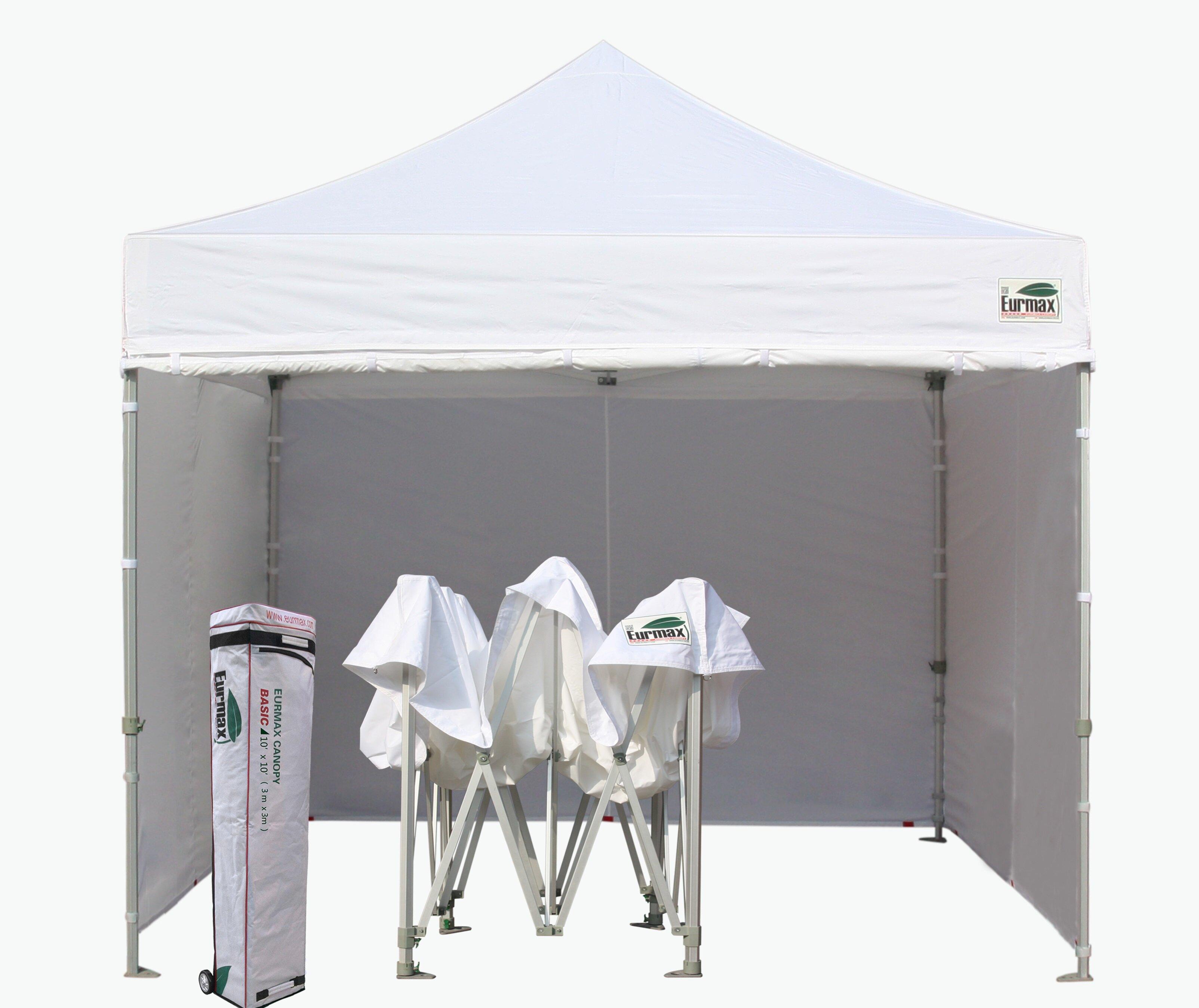 Eurmax Commercial 10 Ft W X 10 Ft D Steel Pop Up Canopy Reviews Wayfair