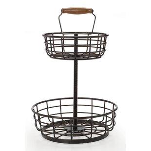Adjustable 2 Tier Metal Basket