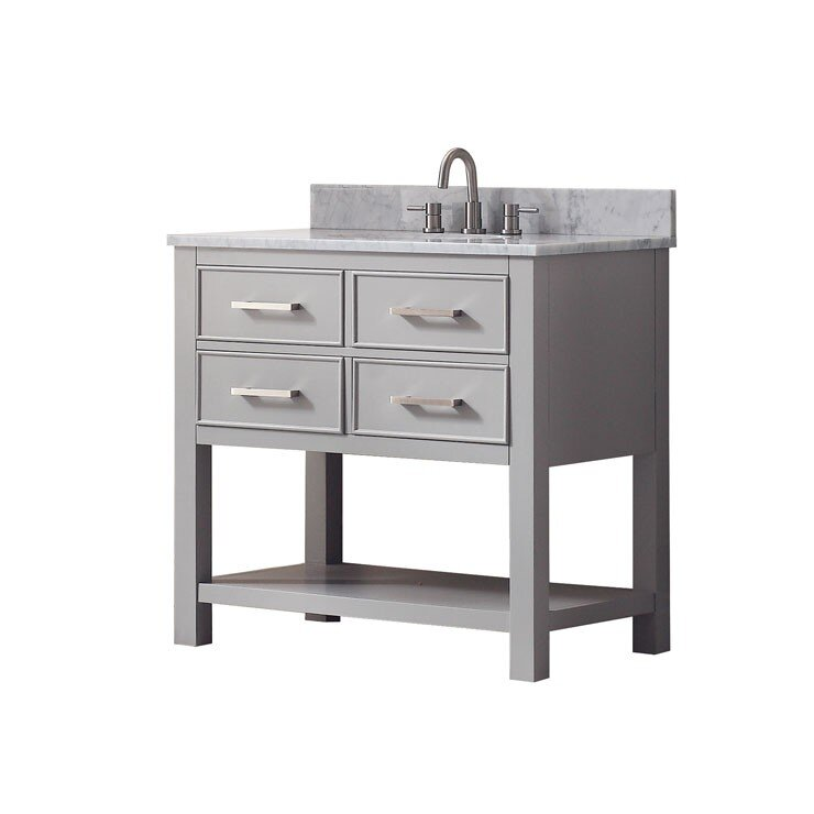 "Bathroom Vanity Base mercury row cortland 36"" double bathroom vanity base & reviews"