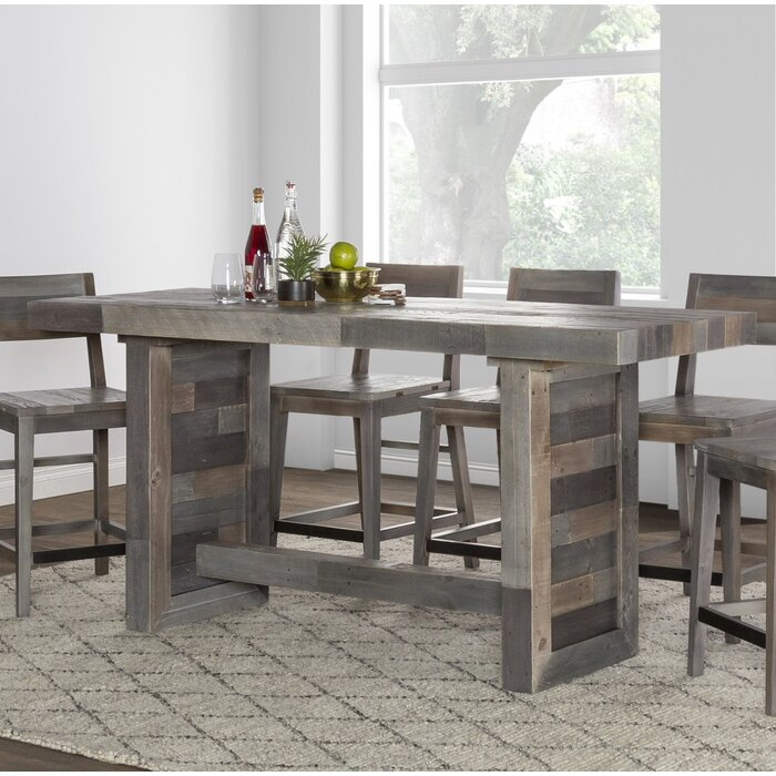 room counter table product sets rm place pc dark wood dr dining chocolate height julian