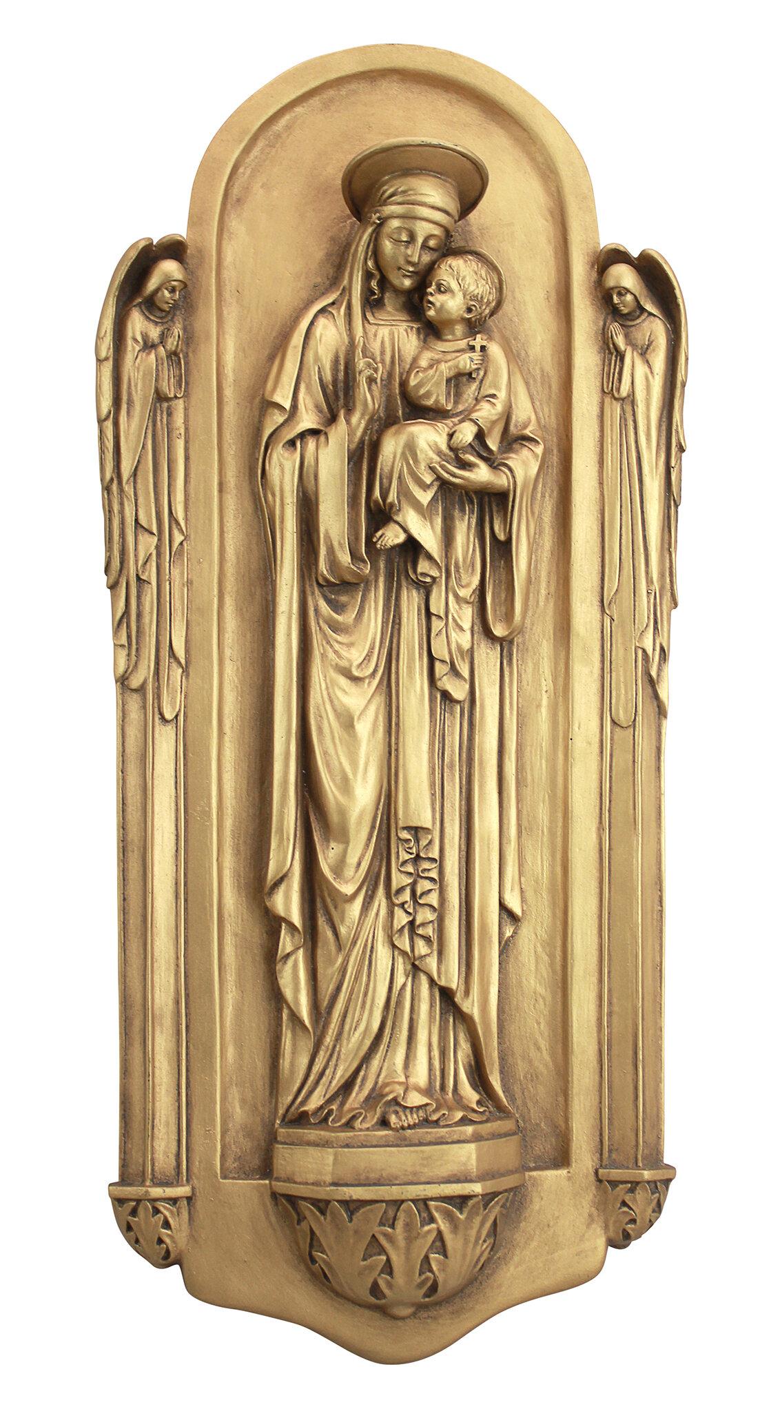 Design Toscano Il Virgin Benedetto Di Turin Wall Décor | Wayfair