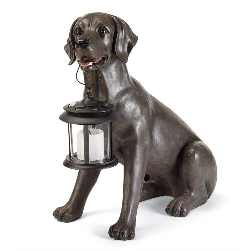 Wind U0026 Weather Dog Solar Lantern Statue U0026 Reviews | Wayfair