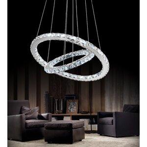Ring LED Light Crystal Chandelier