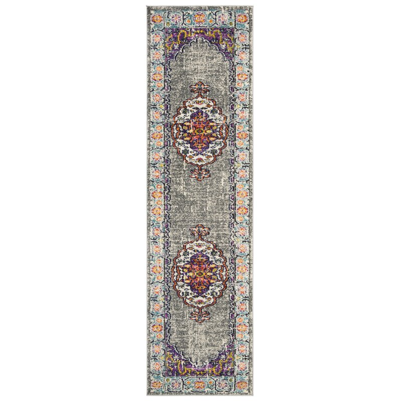 Bloomsbury Market Halsey Violet/Light Blue Area Rug, Size: Rectangle 67 x 92