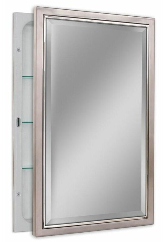 Knuth 16 X 26 Recessed Framed Medicine Cabinet With 3 Adjule Shelves