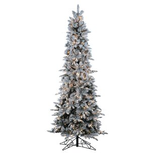 9u0027 Green Pine Artificial Christmas Tree With 650 Clear U0026 White Lights With  Flocked And Stand
