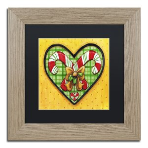 'Candy Cane Heart' by Jennifer Nilsson Framed Graphic Art