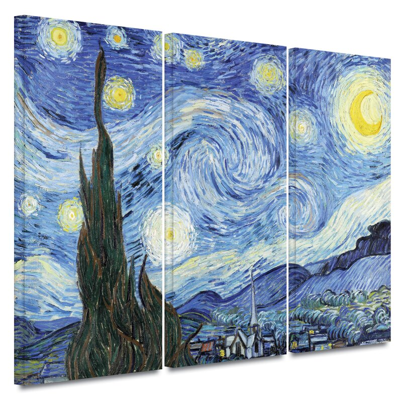 an analysis of van goghs painting the starry night Starry night (1889) artwork description & analysis: starry night is often considered to be van gogh's pinnacle achievement unlike most of his works, starry night was painted from memory, and not out in the landscape.