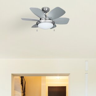 Ceiling fans remote control with lights wayfair spitfire 6 blade ceiling fan mozeypictures Images