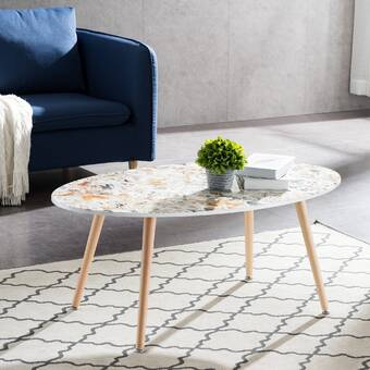 George Oliver Glasper Faux Geode Coffee Table | Wayfair