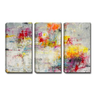 3 canvas art cool day in the sun piece painting print wrapped canvas set wall art youll love wayfair
