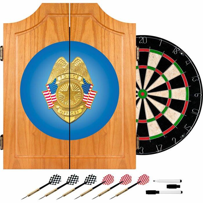 Police Officer Wood Dart Cabinet Set