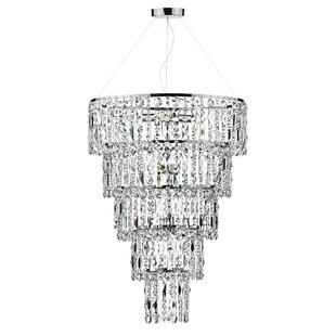 Crystal chandeliers wayfair escala 6 light crystal chandelier aloadofball Images