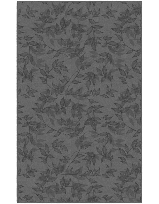 Winston Porter Roxana Floral Gray Area Rug, Size: Rectangle 76 x 10