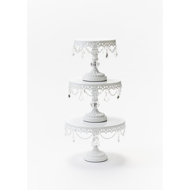 Ball Base Chandelier Plate 3 Piece Cake Stand Set  sc 1 st  Wayfair & Opulent Treasures Ball Base Chandelier Plate 3 Piece Cake Stand Set ...