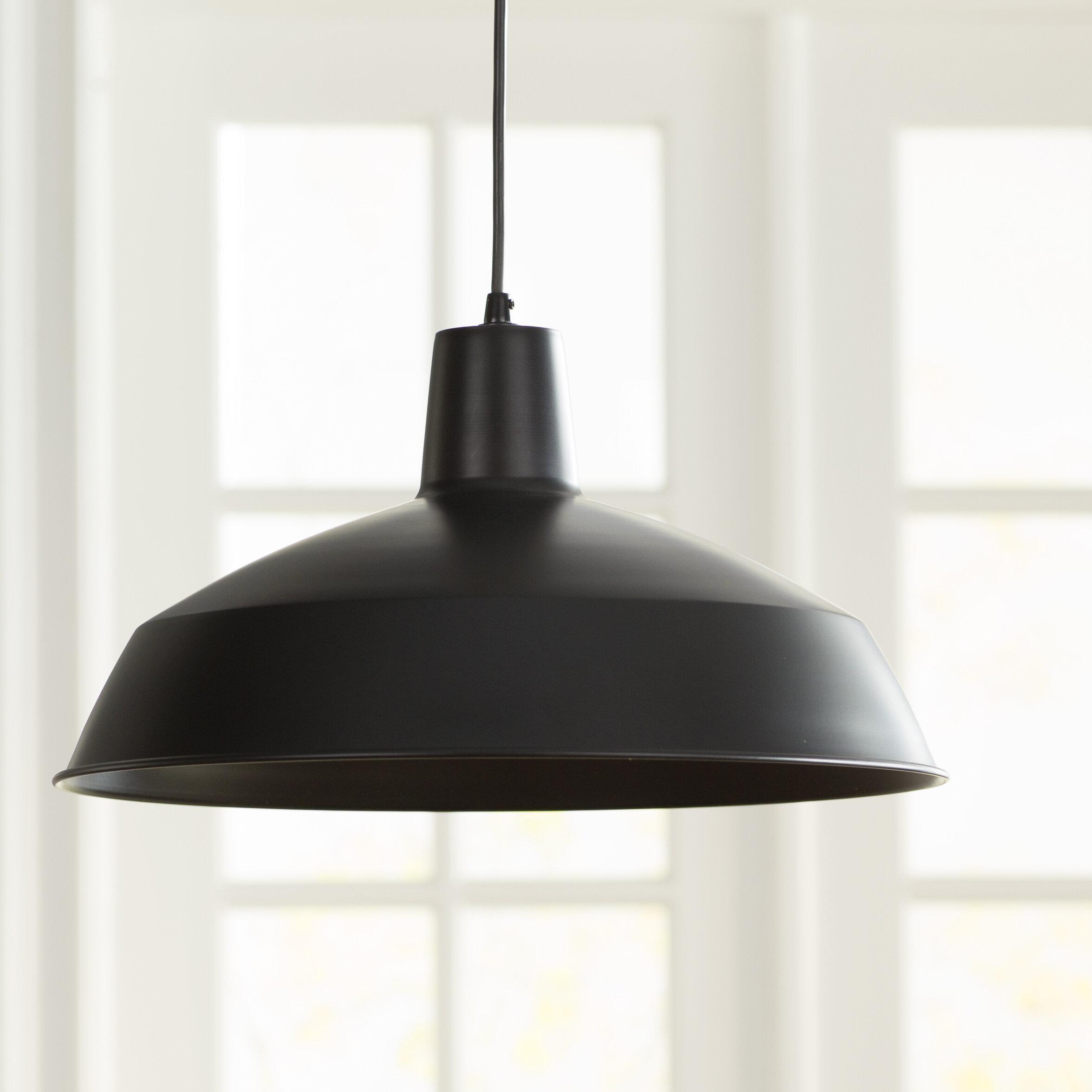 Laurel foundry modern farmhouse barnyard industrial warehouse 1 light bowl pendant reviews wayfair