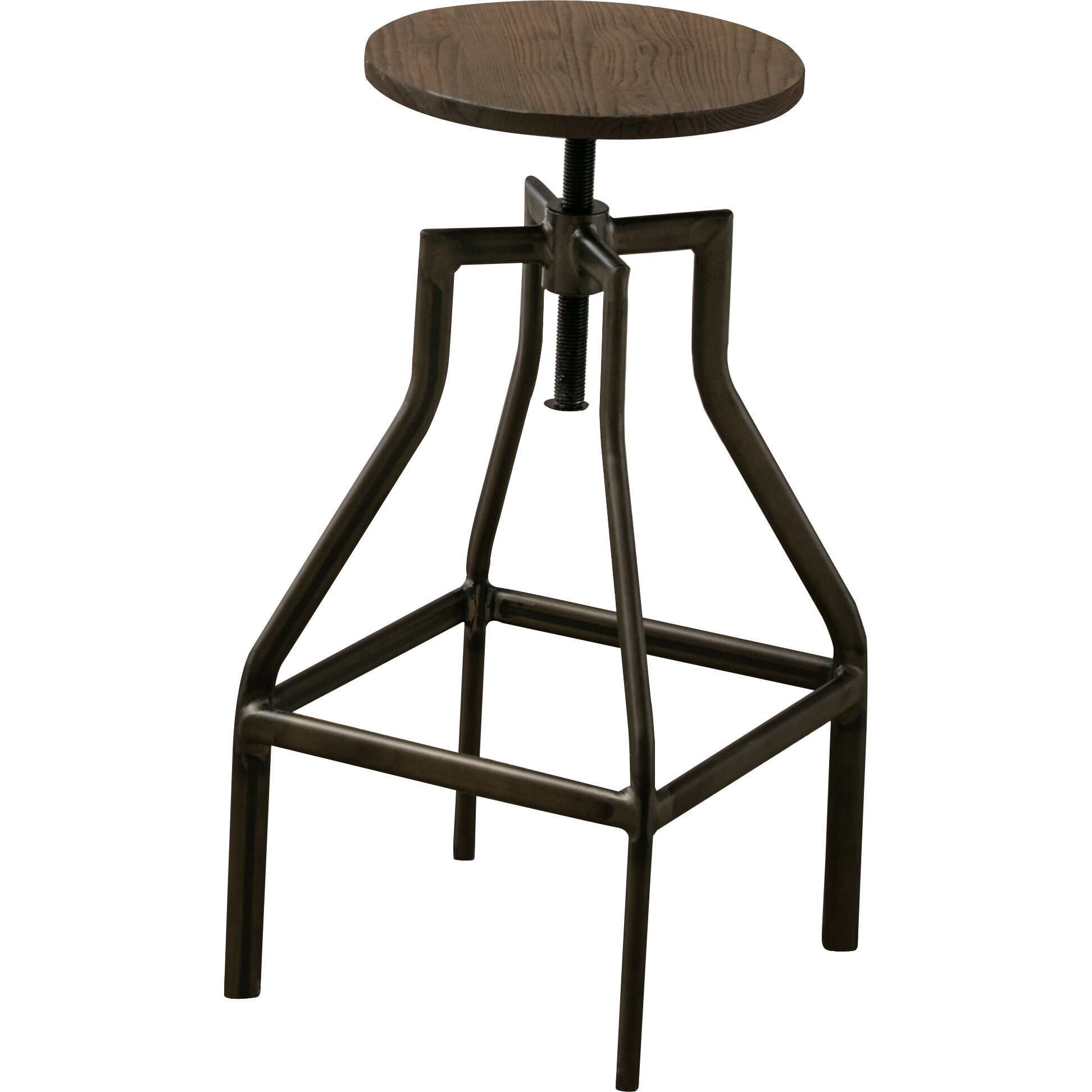 French Industrial Farmhouse Adjustable Height Swivel  : FrenchIndustrialFarmhouseAdjustableHeightSwivelCounterBarStool from www.jossandmain.com size 1944 x 1944 jpeg 146kB
