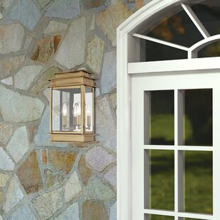 Solid brass outdoor lights wayfair farmingdale 2 light solid brass outdoor flush mount aloadofball Images