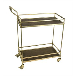 Nancy Glistening 2 Tiered Bar Cart