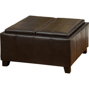 Suber Leather Ottoman by Latitude Run