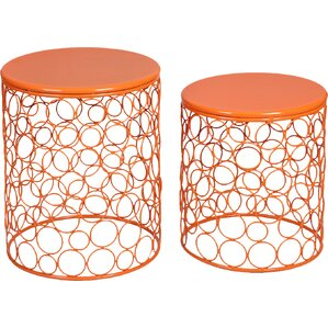 Quisenberry 2 Piece Accent Stool Set  sc 1 st  Wayfair & Modern u0026 Contemporary Garden Stools Youu0027ll Love | Wayfair islam-shia.org