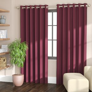 Williamson Solid Blackout Thermal Grommet Single Curtain Panel