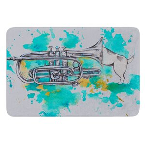 Hunting For Jazz Blue by Kira Crees Bath Mat