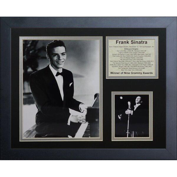 Legends Never Die Frank Sinatra The Singles Framed Memorabilia | Wayfair