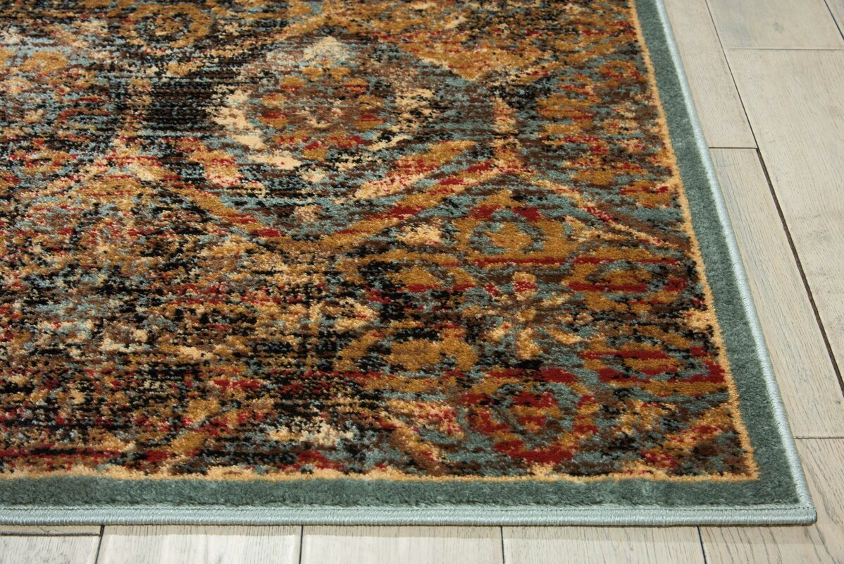 Anders Blue/Orange Area Rug