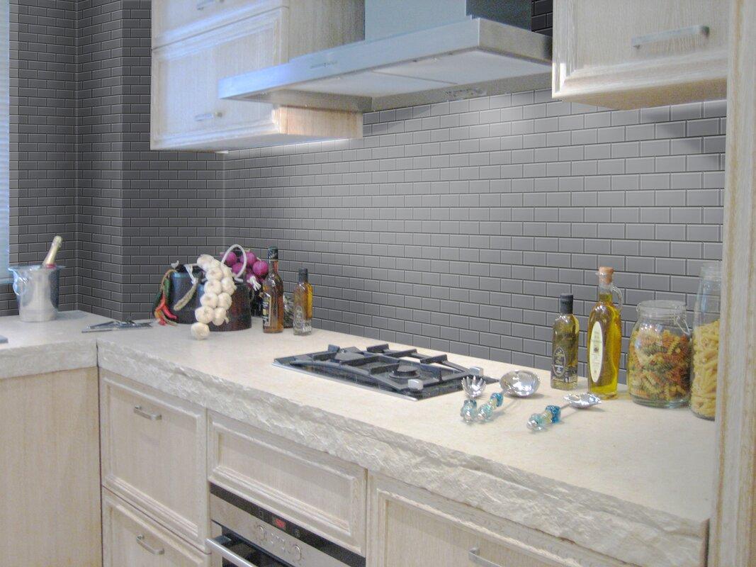 Ws tiles premium series 3 x 6 glass subway tile in dark gray premium series 3 x 6 glass subway tile in dailygadgetfo Choice Image