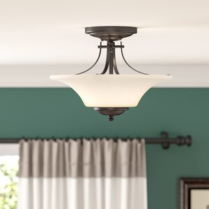 Pompton 2-Light Semi Flush Mount