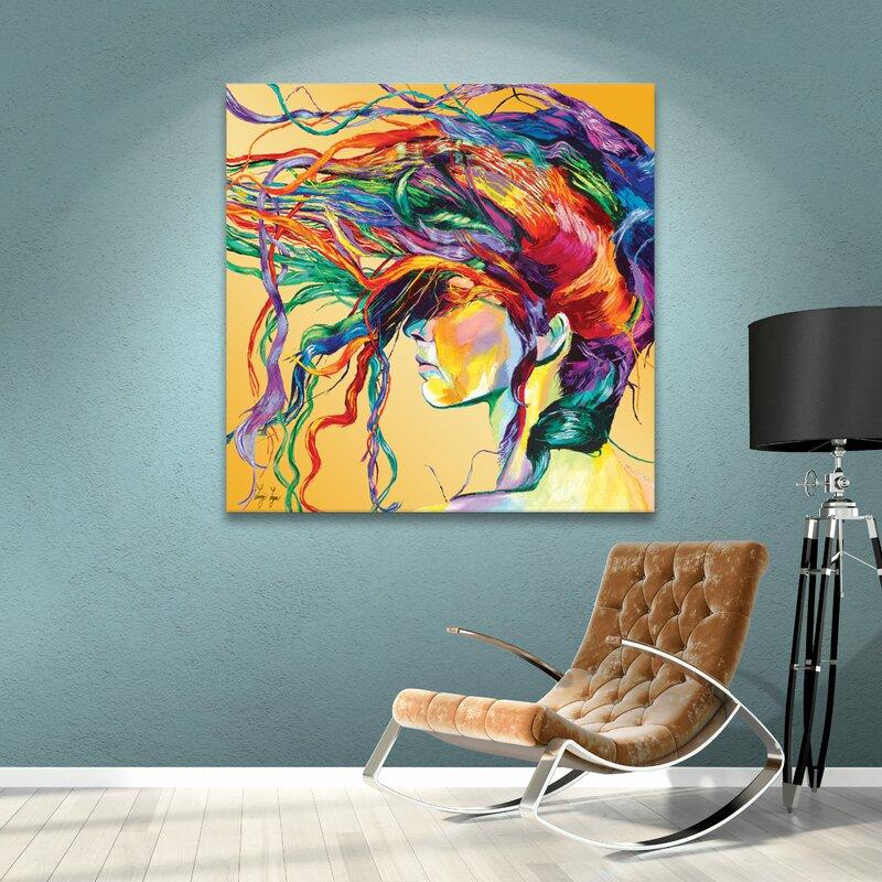 U0027Windsweptu0027 Framed Graphic Art Print On Canvas