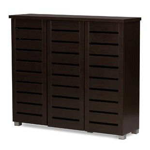 20 Pair Slatted Shoe Storage Cabinet