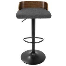 Bonenfant Adjustable Height Swivel Bar Stool with Cushion
