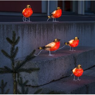 Baby Bullfinches Lighted Display (Set of 5)