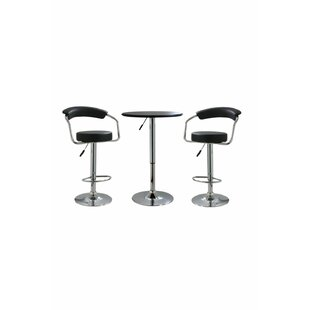 Heinemann 3 Piece Adjustable Pub Table Set